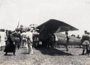 Winner Art Goebel's Woolaroc at Wheeler Field, August 17, 1927.