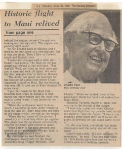 By Bob Krauss. Reprinted from the Honolulu Advertiser June 21, 1982
