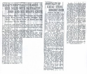 Kauai's Hospitality Makes Her Solid With Navigatin' John and His Brave Crew, 9-13-1925
