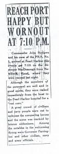 Reach Port Happy But Wornout at 7:10 p.m., 9-11-1925