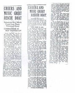 Cheers and Music Greet Rescue Boat, 9-11-1925