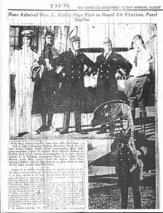Rear Admiral Moffett Visits Pearl Harbor, 8-22-1925 P 1
