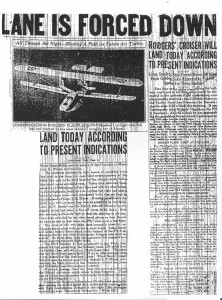 Rodgers' cruiser will land today according to present indications, 9-1-1925