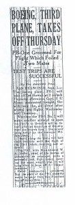 Boeing 3rd Plane Takes Off Thursday, 9-2-1925
