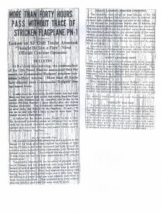 More Than 40 Hours Pass Without Trace of Striken Flagship PN-9, 9-3-1925