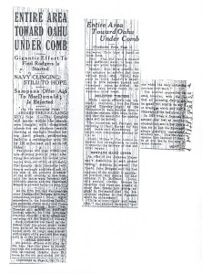 Entire Area Toward Oahu Under Comb, 9-6-1925