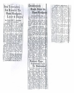 Sea Terriers En Route to Hunt Rodgers Lost 6 Days, 9-7-1925