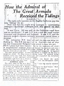 How the Admiral of the Great Armada Received the Tidings, 9-10-1925