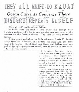 They All Drift to Kauai, History Repeat Itself, 9-10-1925