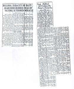 Bulldog Tenacity of Navy Searchers Robbed Seas of Victims, Is Termed Miracle, 9-11-1925