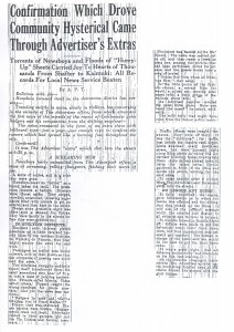 Confirmation Which Drove Community Hysterical Came Through Advertiser Extras, 9-11-1925