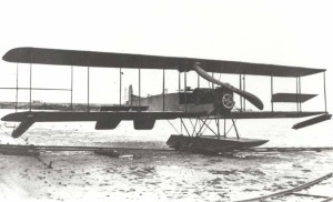 Curtiss Model G Tracktor Scout (Signal Corps aircraft No. 21) brought to Fort Kamehameha on July 11, 1913 by Army Lt. Harold Geiger.