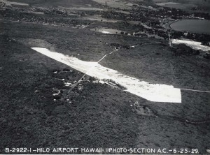 Aerial view of the Hilo Airport taken in 1929