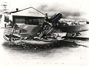 Wheeler Field photo of the attacks on December 7, 1941