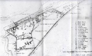 Blueprint drawing of Haleiwa Airport taken in 1946