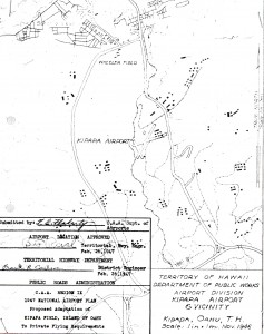 Blueprint drawing of Kipapa Airport in 1946