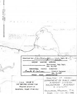 1947 National Airport Plan for Kalaupapa Airport
