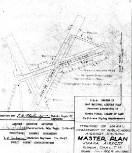 Blueprint drawing of Kipapa Airport in 1947