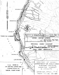 1947 National Airport Plan for Lahaina Airport