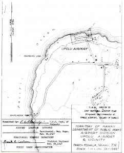 Master Plan of Upolu Airport drafted in 1947