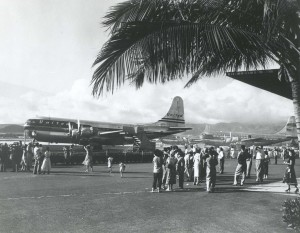 1950s photo of an United Air Lines aircraft