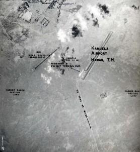 Aerial view with markings of Kamuela Airport taken in 1953