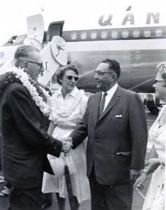 Ceremony honoring Qantas