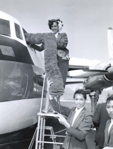 1961 photo of a Aloha Airlines ceremony