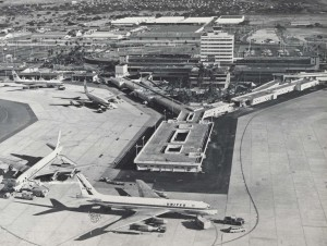 Aerial view of HNL from the 1970s