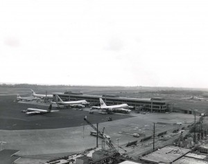 Aerial view of a portion of HNL from the 1970s