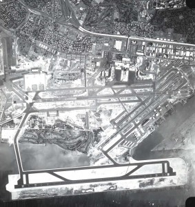 Aerial view of the Reef Runway after completion