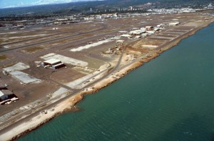 Aerial view of HNL taken in 1991