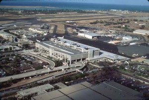 Aerial view of the Interisland Terminal at HNL taken in 1993
