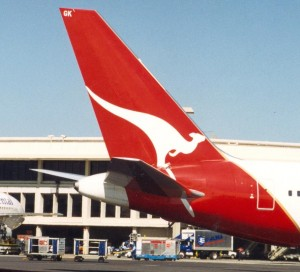 Photo of tail end of an aircraft taken in 1994
