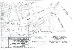 Blueprint of Ala Moana Airport