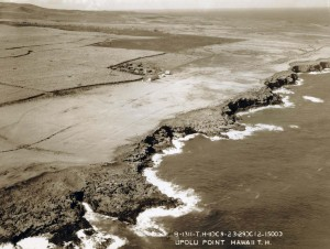 Historic photo of an aerial view of Upolu field