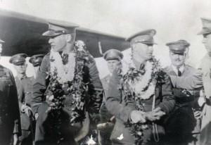 Lt Hegenberger and Lt Maitland being honored after landing
