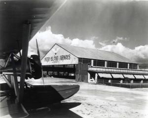 1930 Photo of Inter-Island Airways Plane Hangar
