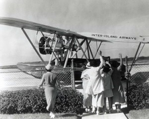 Historic photo of a single engine aircraft in the 1940s