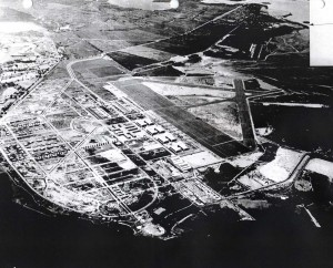 Aerial photo of John Rodgers Field from 1940