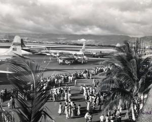 Historic photo of the HNL runway