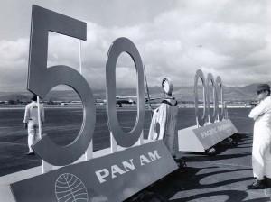 Pan Am's 50,000th sign