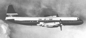 Historic photo of a Teal Jet in the air