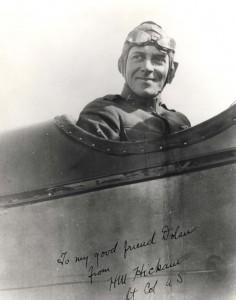 Lt. Col. Horace Hickam on an aircraft