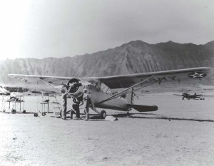 O-49 aircraft at Bellows Field, 1941.