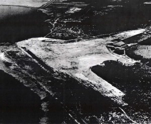 John Rodgers Airport, 1928. Note two buildings in middle right of photo.