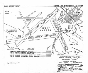 Keehi Lagoon Sea Plane Runway Progress Chart, 1944.