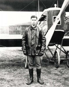 Early Hawaii aviator Army Capt. John Brooks, 1917. He was the Army Department Aviation Officer in Hawaii from 1915-1917.