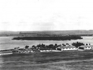 Capt. John Curry surveyed Oahu to select suitable facilities for the 6th Aero Squadron and decided on Ford Island since it had excellent approaches and plenty of water for landings and takeoffs, 1919.