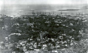Honolulu from Punchbowl, 1890.